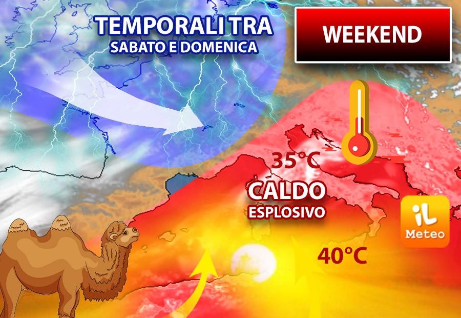 Meteo weekend: urlo africano con super caldo fino a 41°. METEO PREVISIONI