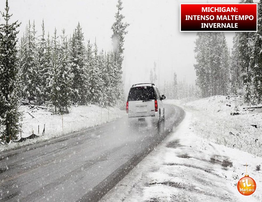 Michigan, intenso maltempo invernale