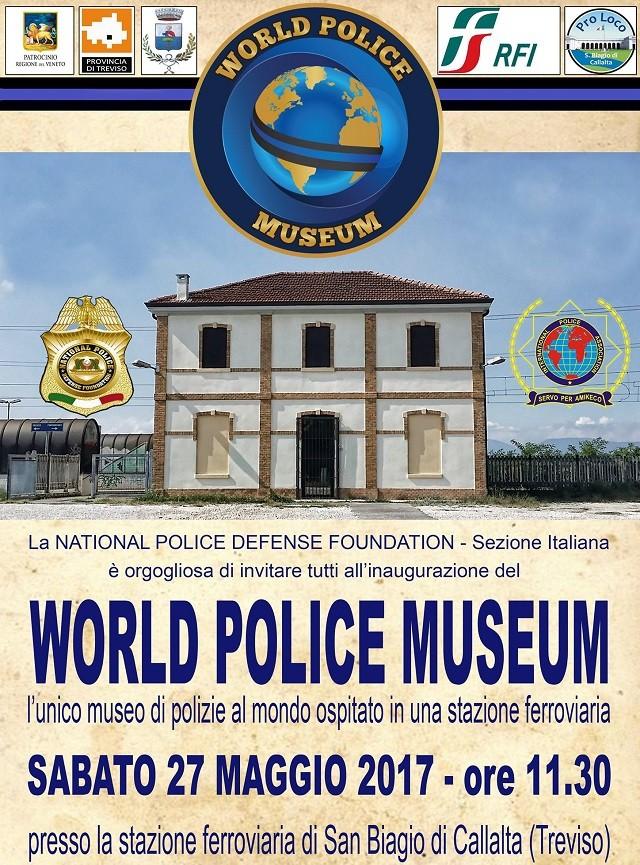 Museo delle Polizie, Sabato 27 Maggio inaugurazione