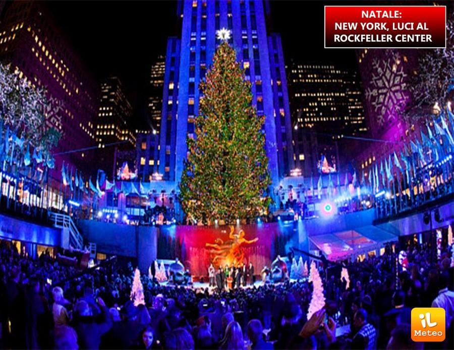 Immagini Natale A New York.Natale New York Luci Al Rockfeller Center Video Ilmeteo It