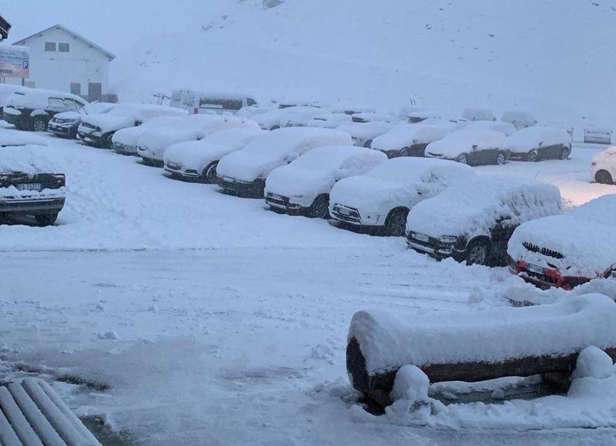 La primera nevada en los Alpes