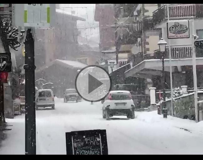 Cervinia, guardate che bella nevicata