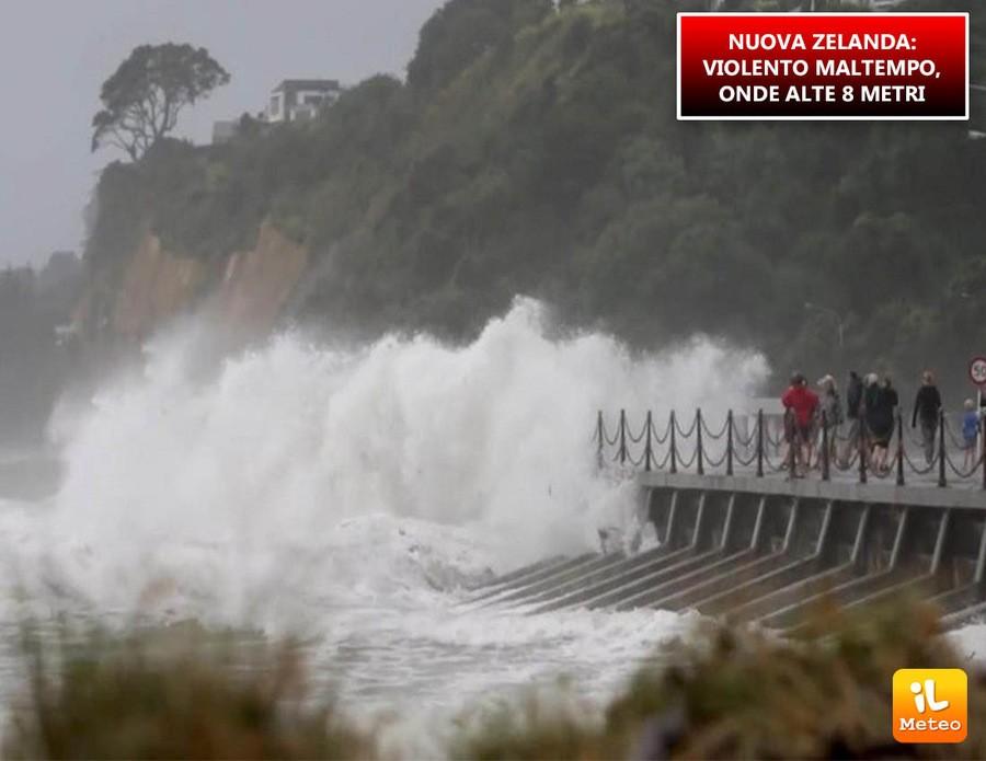 Nuova Zelanda, forti mareggiate e allagamenti nei giorni scorsi