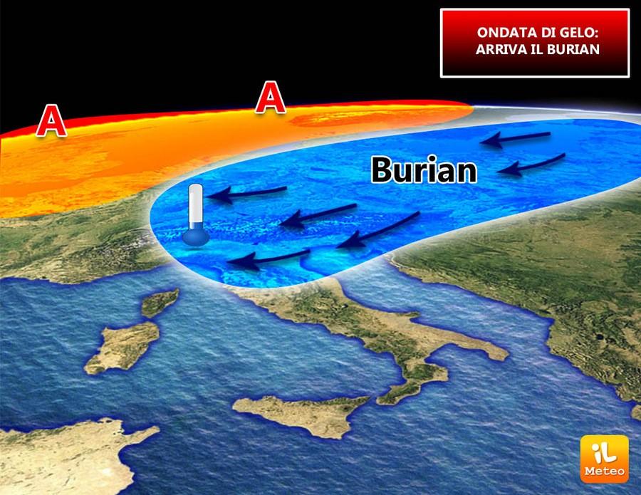 Arriva il Burian per fine mese
