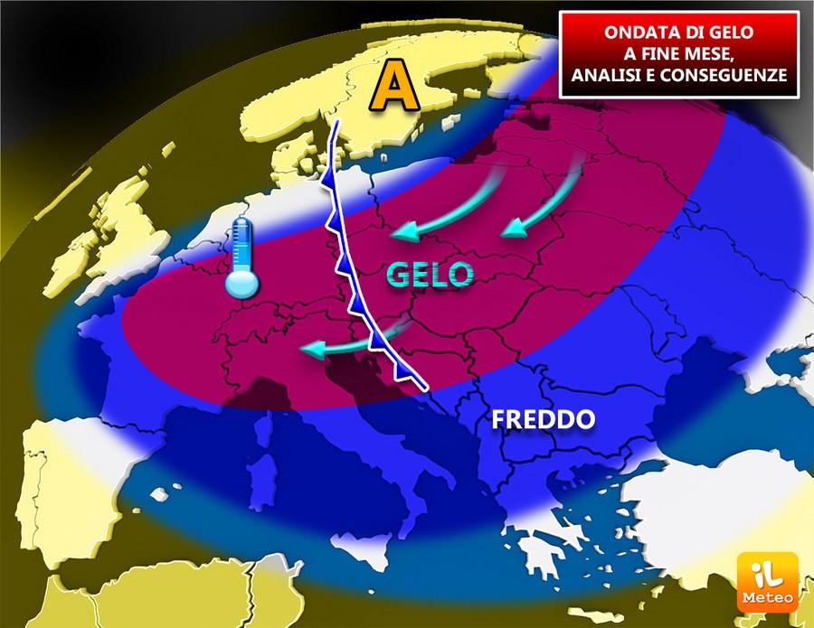 Aria fredda verso l'Italia dopo il 20 Febbraio