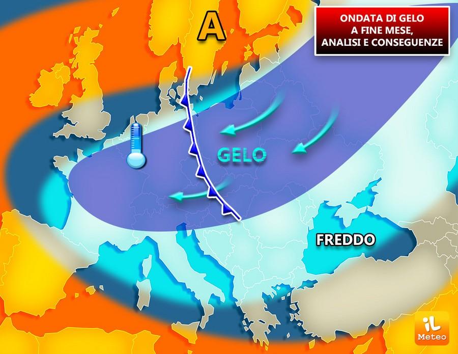 Ondata di gelo a fine mese anche sull'Italia? Analisi meteo