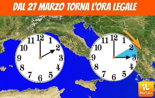 Torna l 39 ora legale da pasqua un 39 ora di luce in pi per for Cambio ora 2016