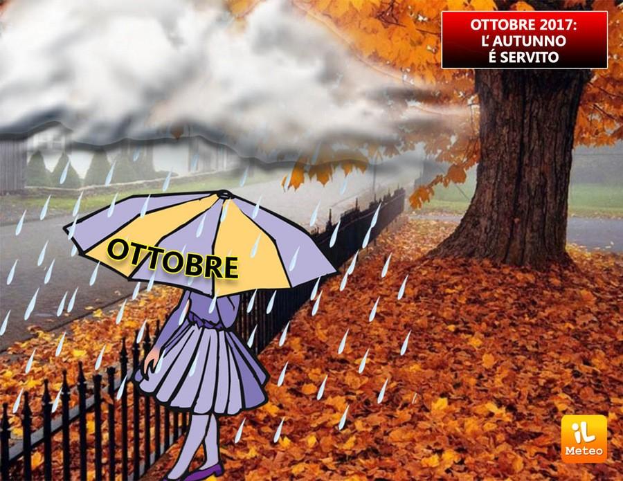 Un ottobre tipicamente autunnale sull'Italia?