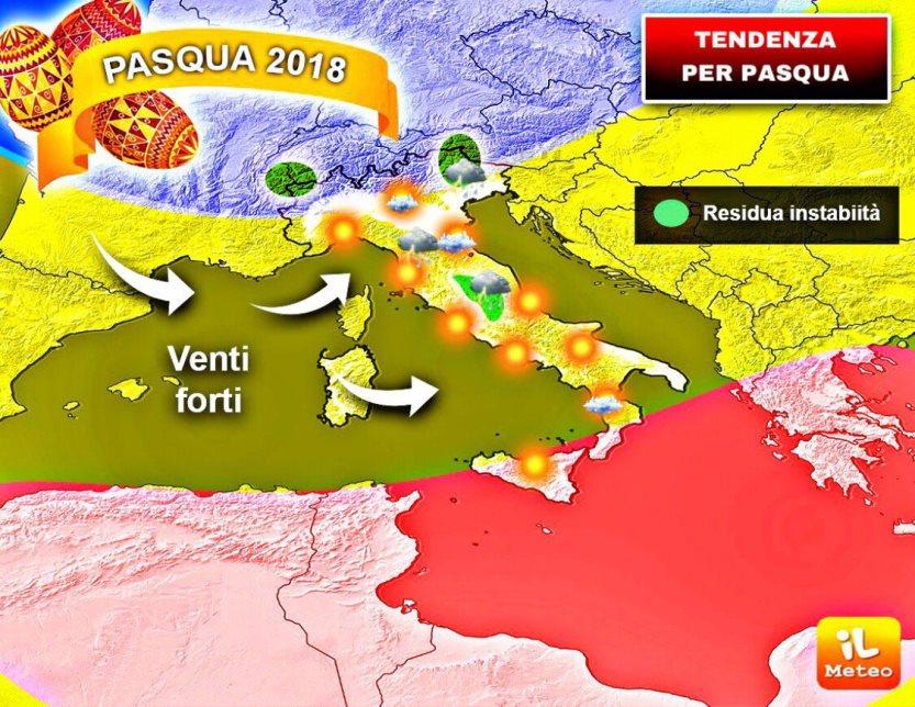 ROMA. Pasqua con residuo maltempo e Pasquetta con il sole