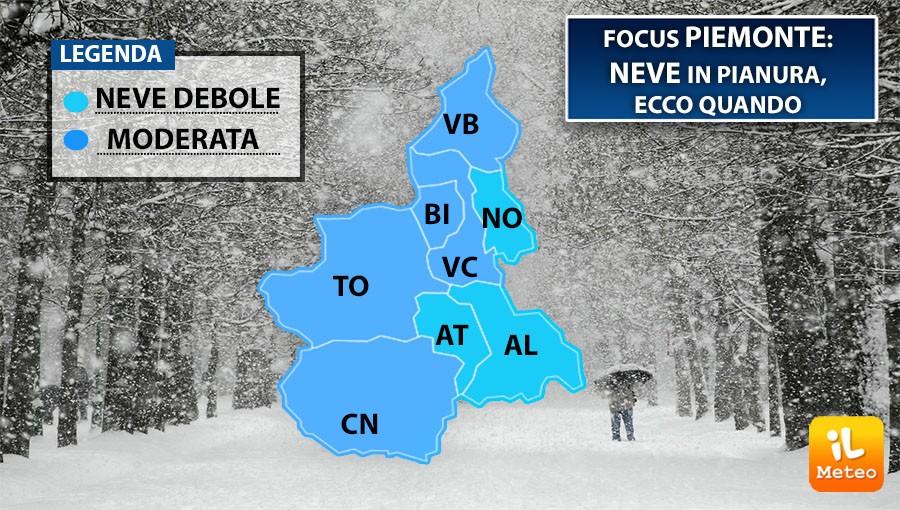 Monza, arriva la neve per lunedì 19 novembre