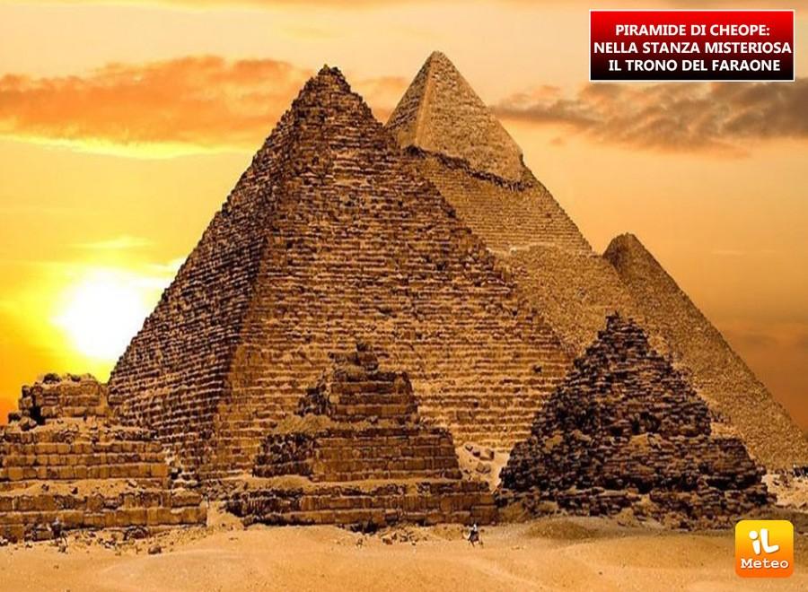 PIRAMIDE DI CHEOPE: nella stanza misteriosa il trono del faraone