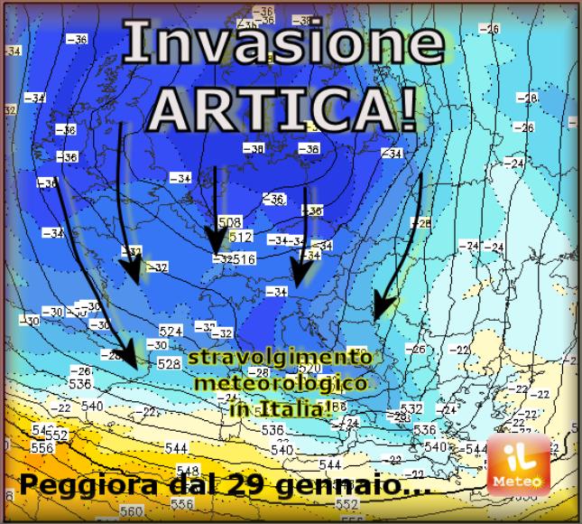 Il Vortice Polare colpisce l'Italia: da giovedì MALTEMPO e NEVE a ripetizione!