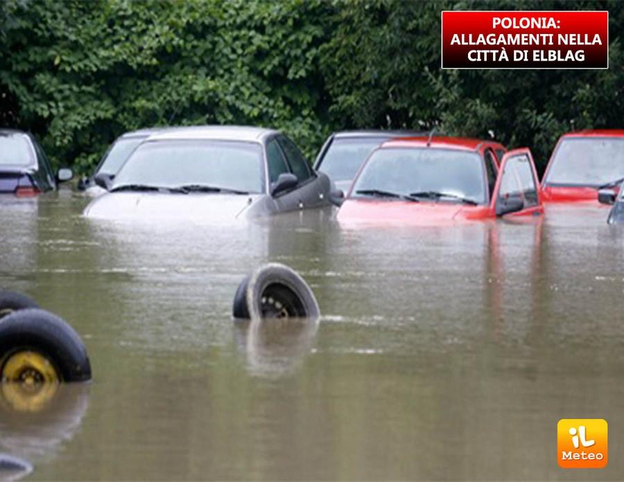 Polonia, allagamenti diffusi nella città di Elblag