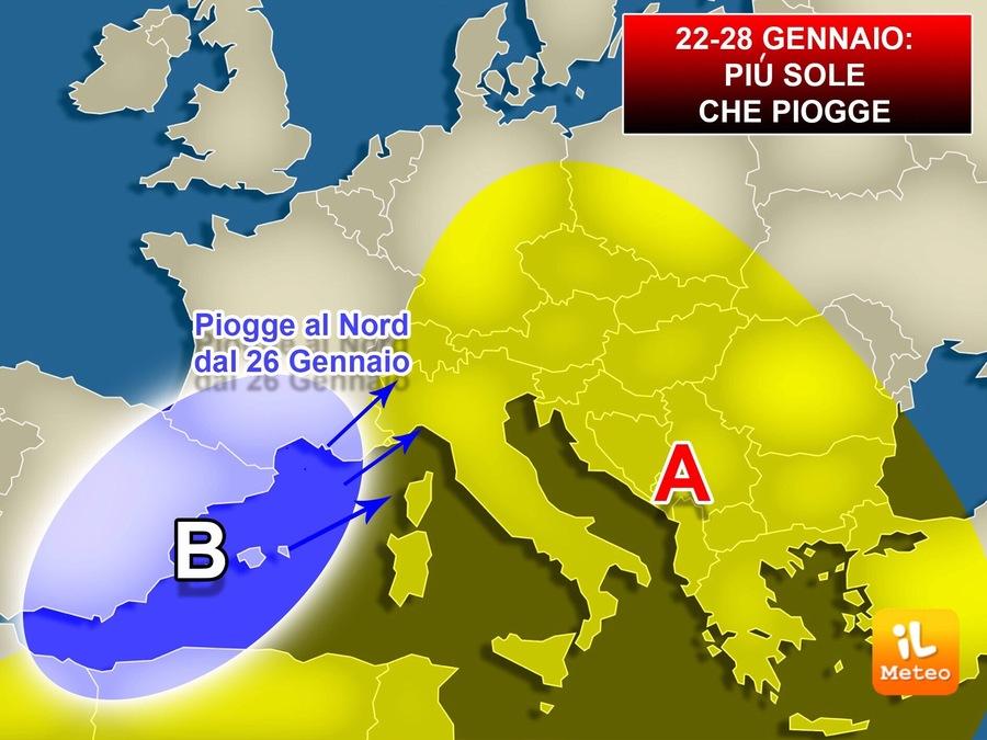 Previsioni dal 22 al 28 Gennaio. Che tempo farà sull'Italia?
