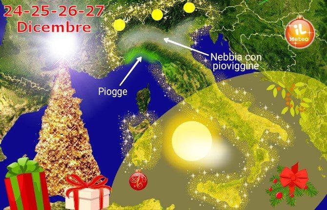 Previsioni Italia per il lungo ponte di Natale