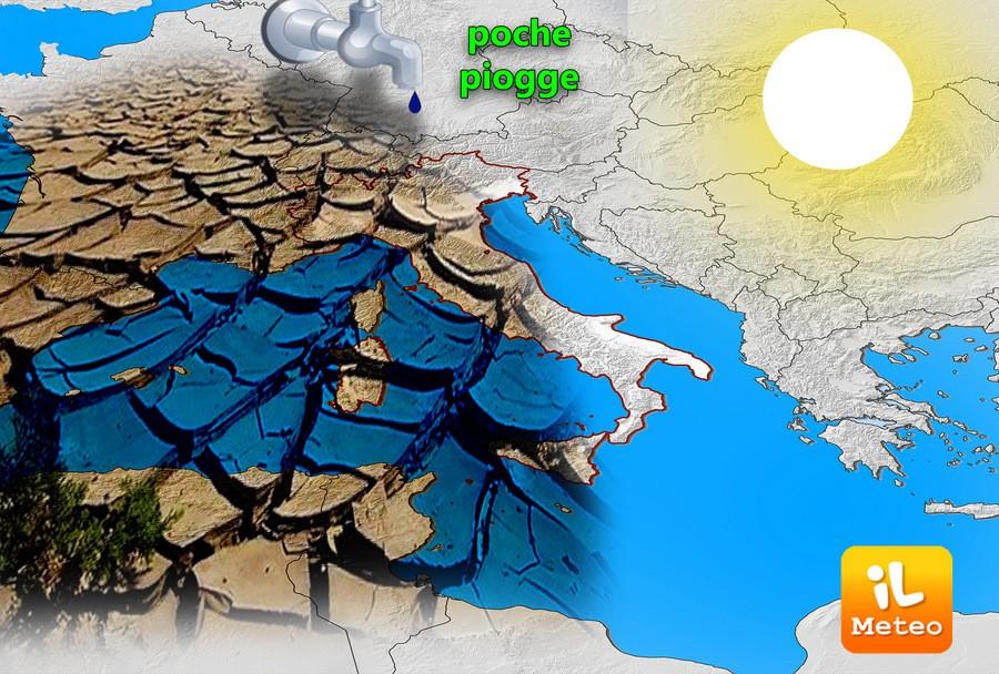 Primavera con poche piogge sull'Italia? Analisi a lungo termine
