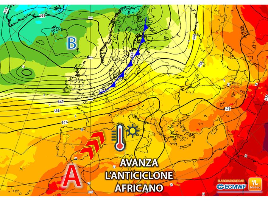 Anticiclone africano in rinforzo sull'Italia: in arrivo sole e caldo