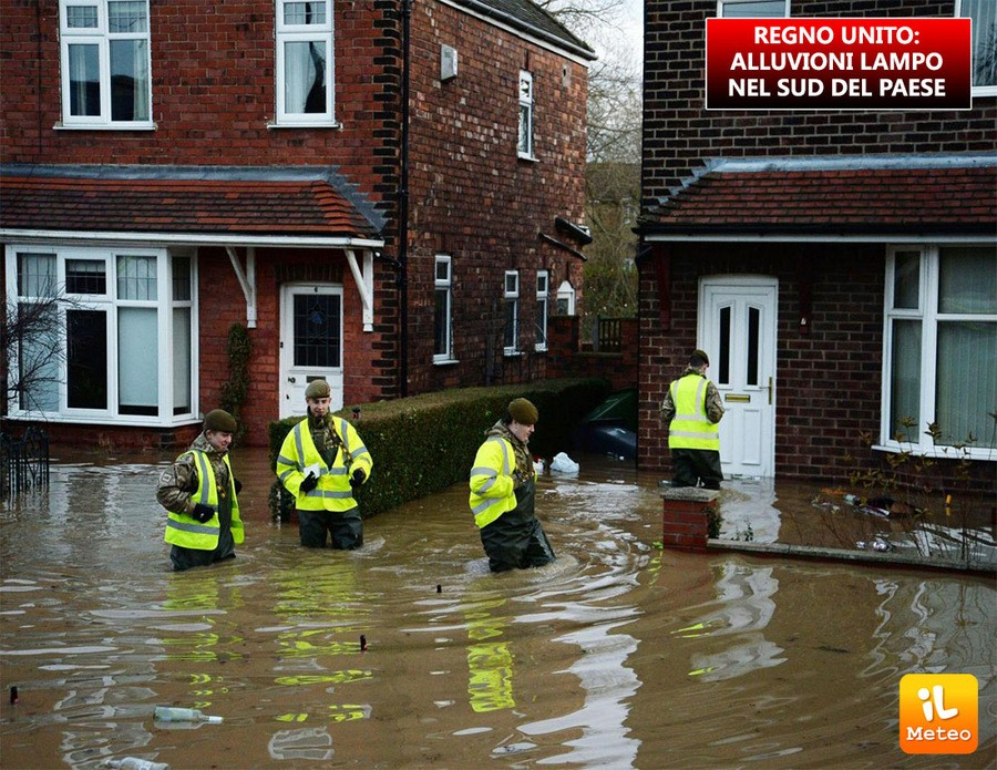 Regno Unito, grave maltempo nel sud del Paese