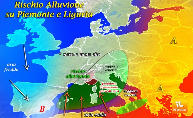 Allerta per il maltempo in Piemonte e Liguria