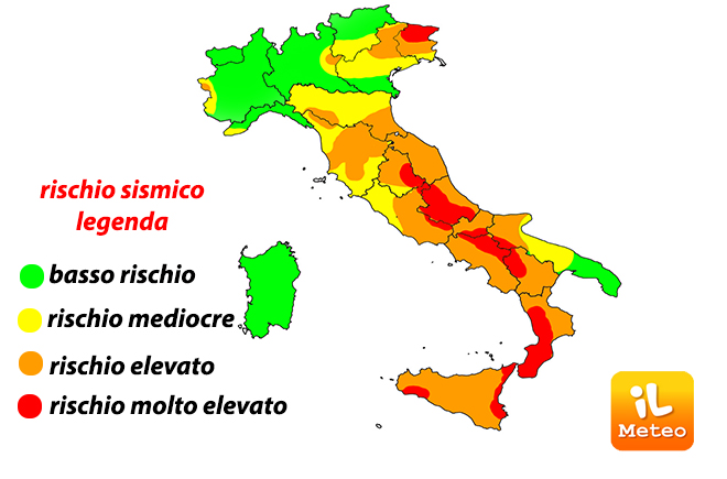 Cartina Italia Con Legenda.Terremoto Italia Paese Sismico Ecco Le Regioni A Rischio Eventi Distruttivi Ilmeteo It