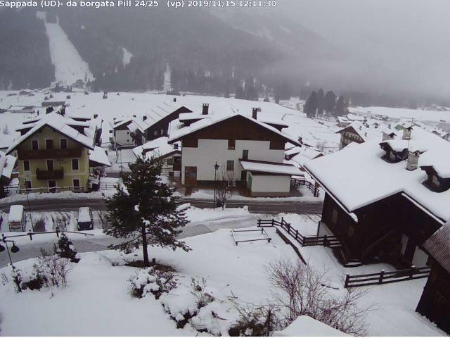 Sappada, in atto forti nevicate