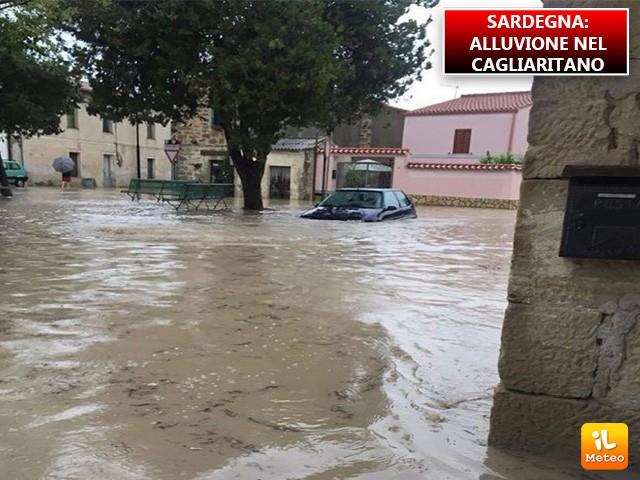 Sardegna flagellata dal maltempo