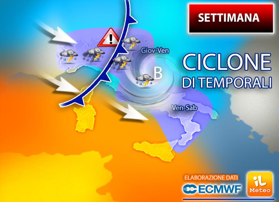 Previsioni meteo: CALDO? Si, nella norma. Sempre più temporali in settimana!