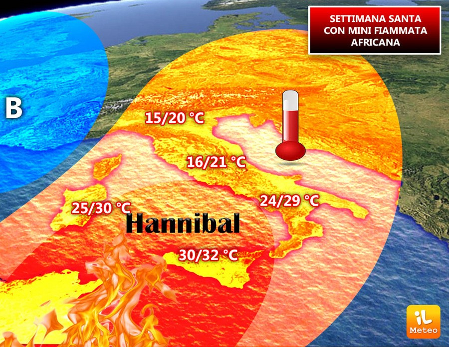 Ecco l'anticiclone Hannibal primo assaggio d'estate al Sud