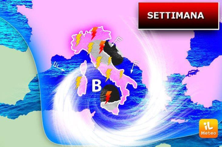 Meteo: ancora maltempo su tutta l'Italia