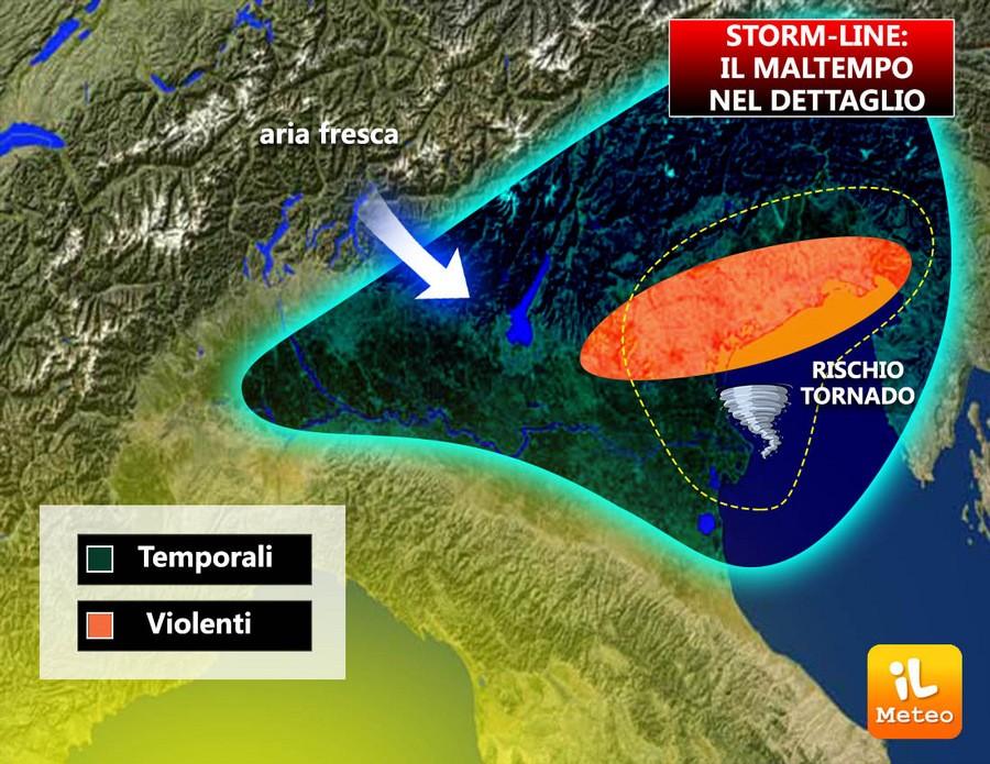 Zone maggiormente colpite da Storm-Line