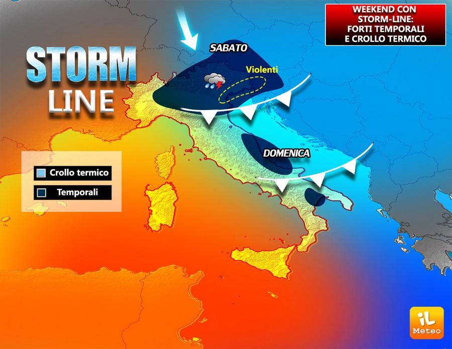 Forti temporali in arrivo al Nordest