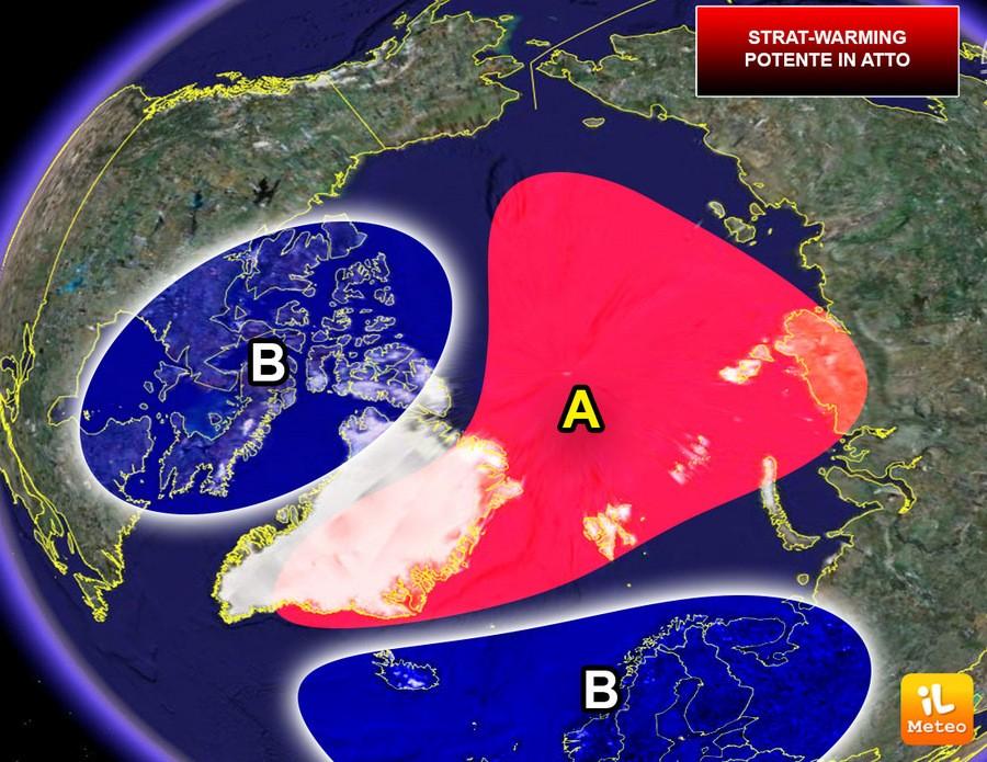 Scissione (split) del Vortice Polare