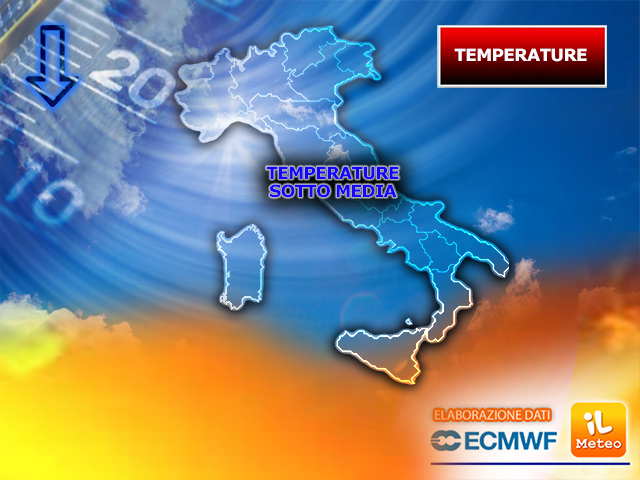 TEMPERATURE di nuovo SOTTO MEDIA