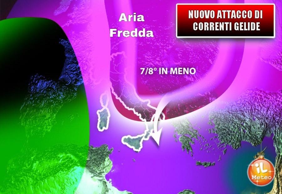 Le previsioni meteo di lunedì 24 dicembre