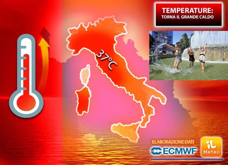 Il meteo dell'11 agosto: città roventi e forti temporali sulle Alpi