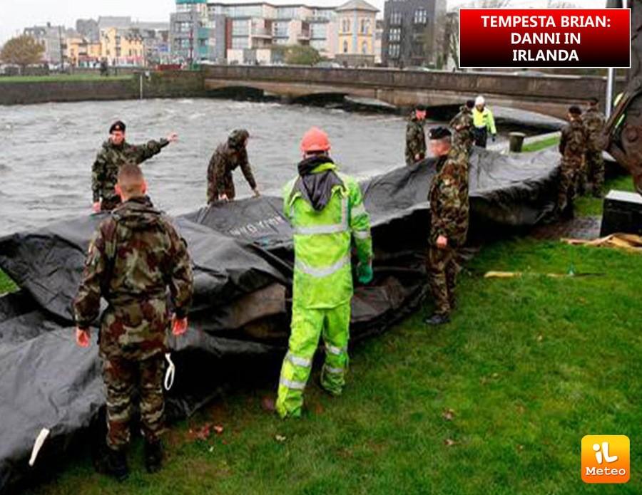 Nuova ondata di maltempo in Irlanda; la tempesta Brian provoca ingenti danni