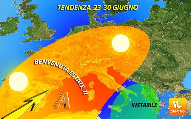 Meteo Napoli. Giunone lascia spazio a Scipione, arriva l'estate con le piogge