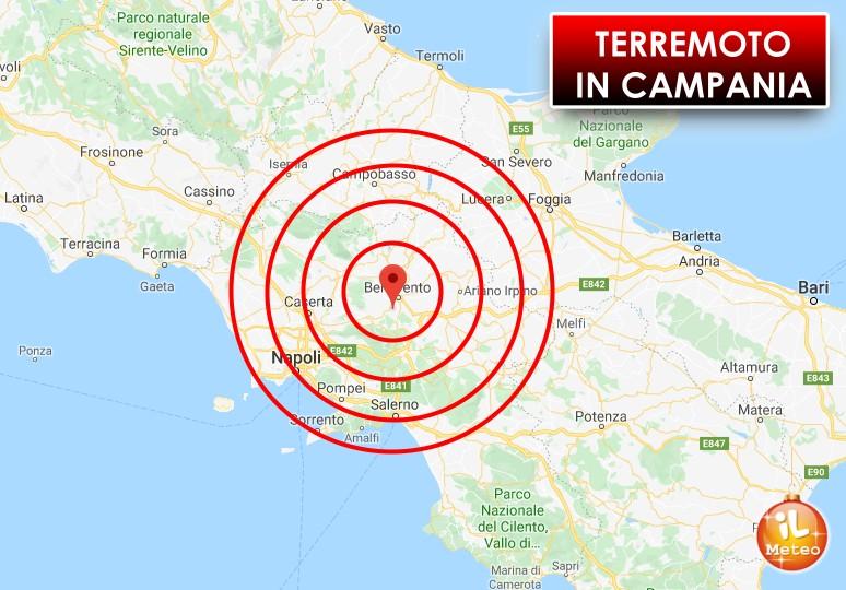 Campania. Trema la terra in mattinata, lieve scossa di terremoto nel beneventano