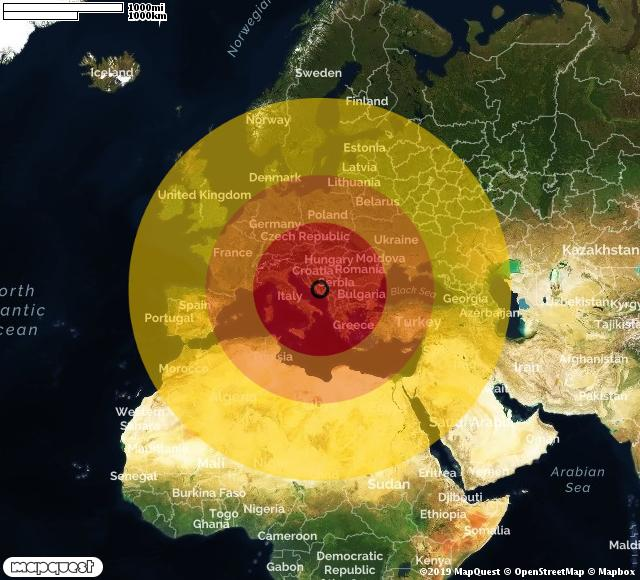 Scossa di terremoto registrata a Blagaj (Bosnia)