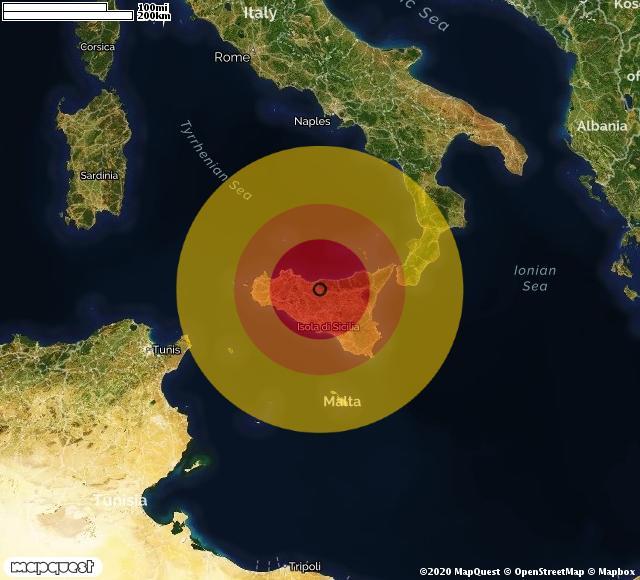Scossa di terremoto registrata a Scillato (PA)