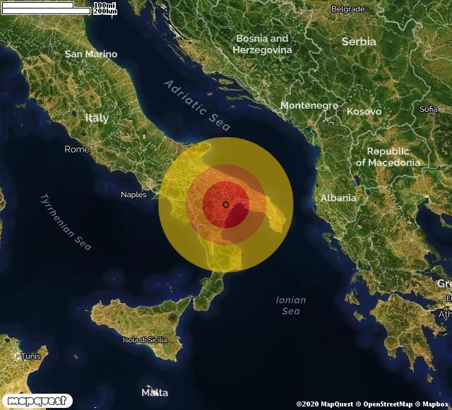 Scossa di terremoto registrata a Bernalda