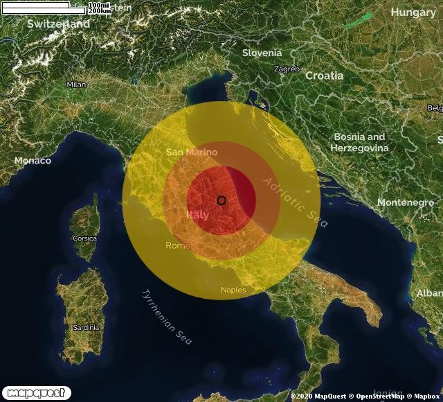 Terremoto nell'Ascolano, scossa di magnitudo 3,1