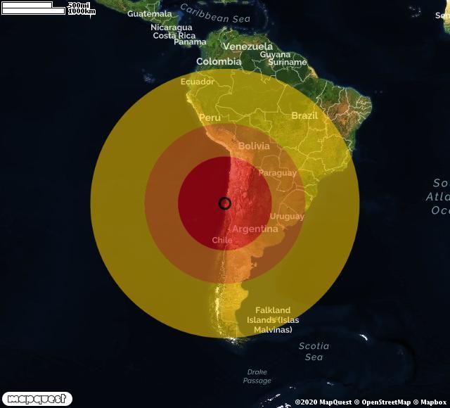 Terremoto in Cile, scossa di magnitudo 6,5 a Ovalle