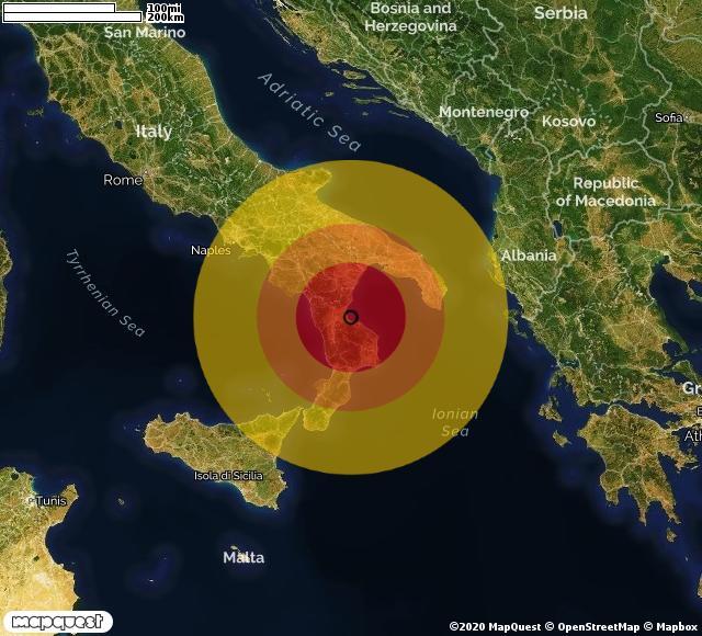 Scossa di terremoto registrata a Marina di Schiavonea (CS)