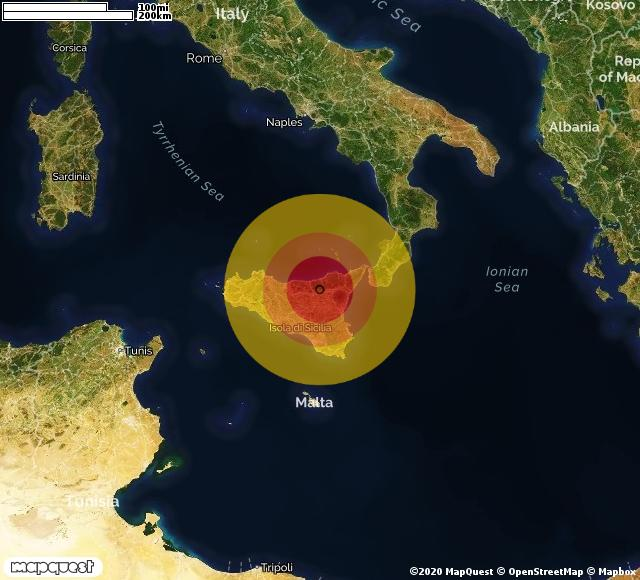 Scossa di terremoto registrata a Cerami (EN)