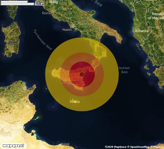 Scossa di terremoto registrata a Etna (CT)