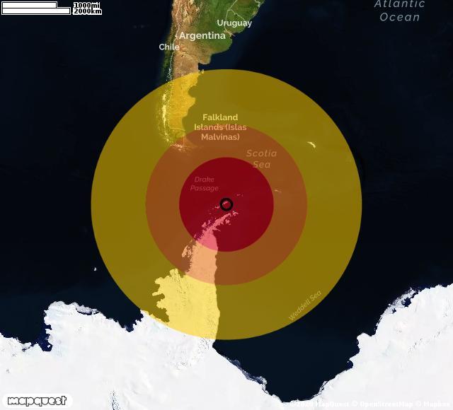 Scossa di terremoto registrata a South Shetland Islands (Regno Unito)