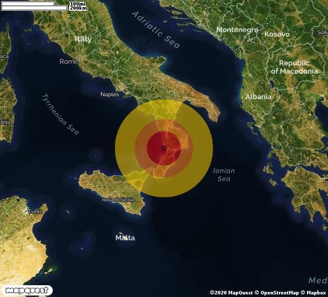 Scossa di terremoto registrata a Falerna Marina (CZ)