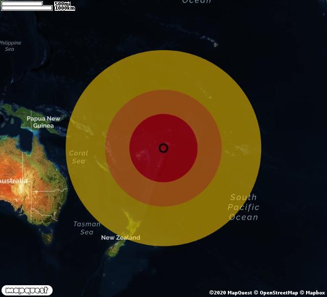 Scossa di terremoto registrata a Tafahi (Tonga)