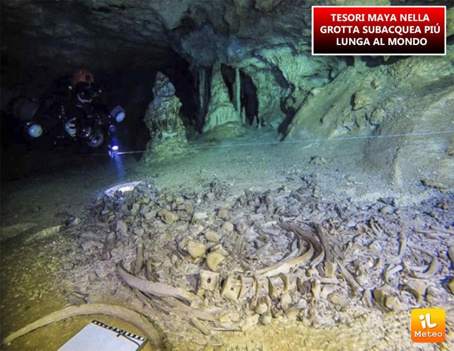 TESORI MAYA nella grotta subacquea più lunga al mondo